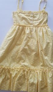 Strasburg Dresses - Strasburg Dress girl's 10 yellow white polka dots